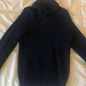 Navy Blue H&M top half button up sweater